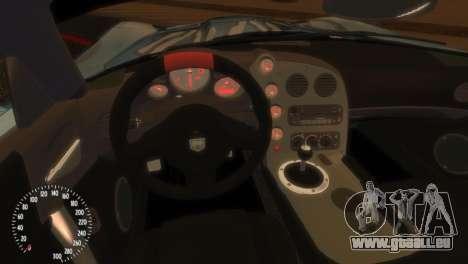 Dodge Viper SRT-10 Mopar Drift pour GTA 4 Vue arrière