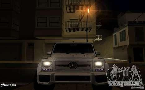 Mercedes Benz G65 AMG pour GTA San Andreas vue arrière