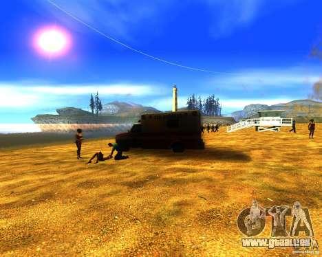 Salut de l'homme sur la plage pour GTA San Andreas deuxième écran