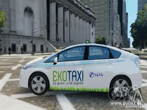 Toyota Prius EKO TAXI (Hrvatski taxi) pour GTA 4 est une gauche