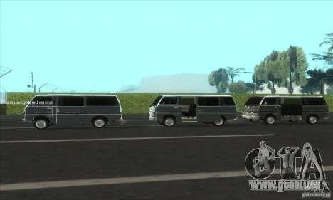Nissan Caravan E20 pour GTA San Andreas vue intérieure
