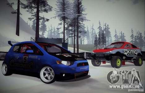 Mitsubishi Colt Rallyart Carbon 2010 pour GTA San Andreas vue de côté