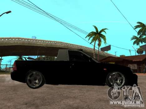 Lada Priora Pickup pour GTA San Andreas sur la vue arrière gauche