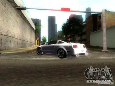 Ford Shelby GT 2008 für GTA San Andreas Innenansicht