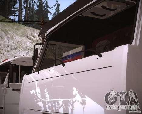 KAMAZ 65117 für GTA San Andreas Rückansicht