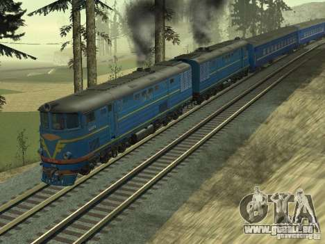 Te7-080 pour GTA San Andreas sur la vue arrière gauche