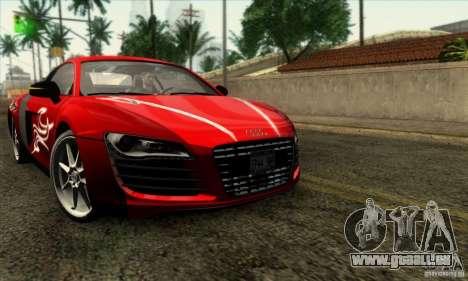 Audi R8 für GTA San Andreas obere Ansicht