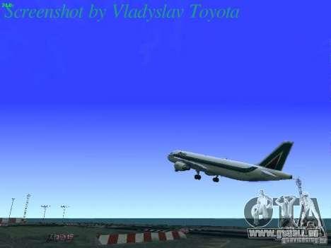 Airbus A320-214 Alitalia v.1.0 pour GTA San Andreas salon