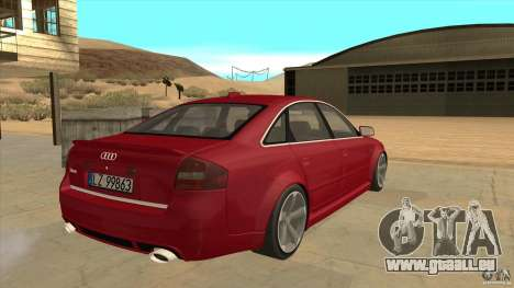 Audi RS6 für GTA San Andreas rechten Ansicht
