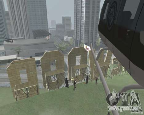 Zone réglementée Vinewood pour GTA San Andreas troisième écran