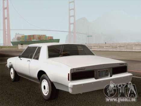 Chevrolet Caprice 1986 pour GTA San Andreas moteur