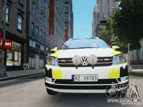 Volkswagen Passat B7 Variant 2012 pour GTA 4 est un côté