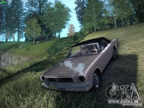 Ford Mustang Convertible 1964 pour GTA San Andreas sur la vue arrière gauche
