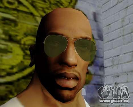 Lunettes de soleil verts lunette pour GTA San Andreas