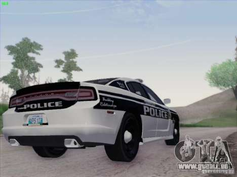 Dodge Charger 2012 Police für GTA San Andreas Rückansicht