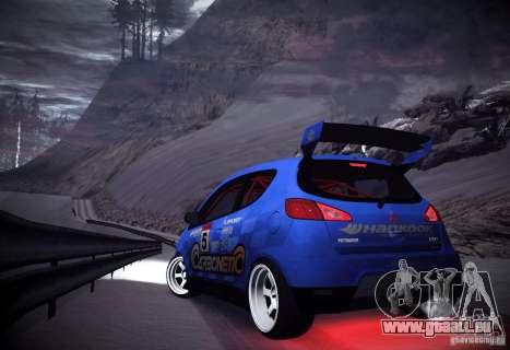 Mitsubishi Colt Rallyart Carbon 2010 pour GTA San Andreas vue de droite