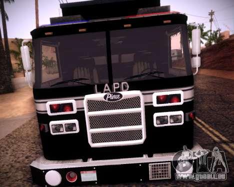 Pierce Contendor LAPD SWAT pour GTA San Andreas laissé vue