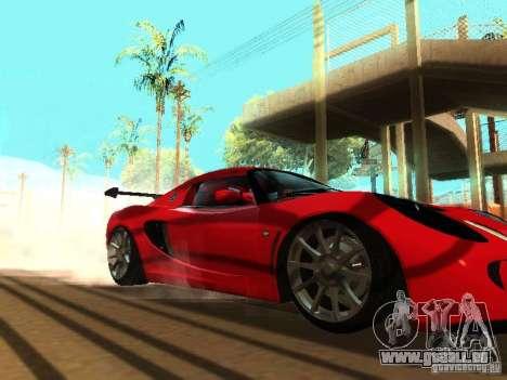 Lotus Exige 240R pour GTA San Andreas vue de dessus