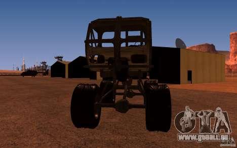 Heist Truck pour GTA San Andreas sur la vue arrière gauche