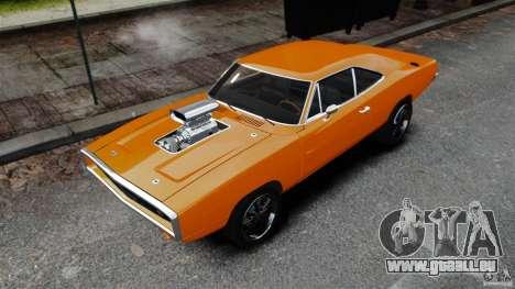 Dodge Charger RT 1970 für GTA 4 hinten links Ansicht