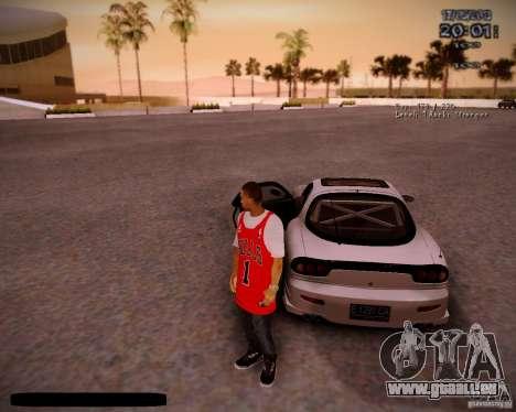 Peau Chicago Bulls pour GTA San Andreas cinquième écran