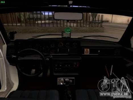 Volvo 242 Turbo pour GTA San Andreas vue intérieure