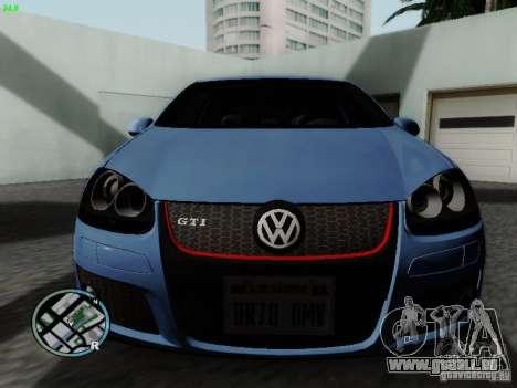Volkswagen Golf V R32 Black edition für GTA San Andreas linke Ansicht