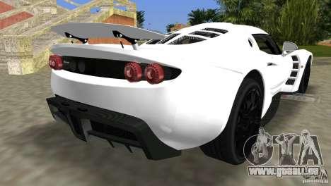 Hennessey Venom GT Spyder für GTA Vice City linke Ansicht