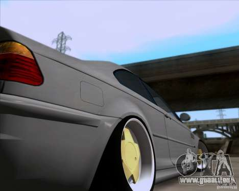BMW 3-er E46 Dope pour GTA San Andreas vue intérieure