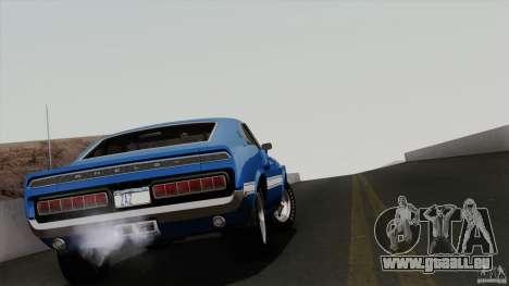 Shelby GT500 428 Cobra Jet 1969 pour GTA San Andreas vue de dessous