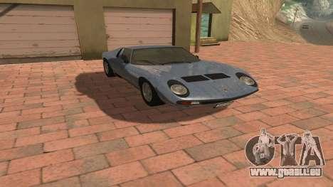 Lamborghini Miura P400 SV 1971 V1.0 pour GTA San Andreas vue intérieure