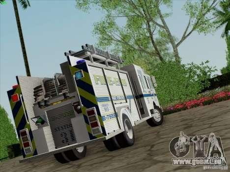 Pierce Pumpers. B.C.F.D. FIRE-EMS für GTA San Andreas linke Ansicht