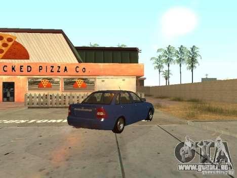 LADA 2170 Drain pour GTA San Andreas vue intérieure