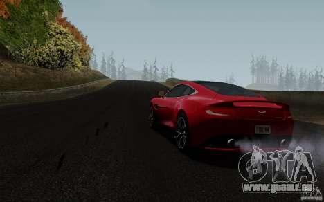 Aston Martin Vanquish 2012 für GTA San Andreas zurück linke Ansicht