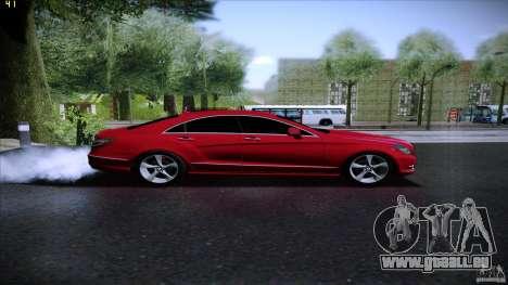 Mercedes Benz CLS 350 2011 pour GTA San Andreas sur la vue arrière gauche