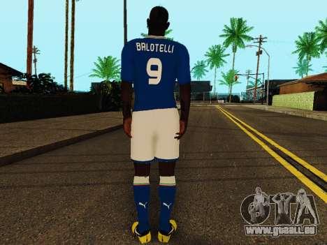 Mario Balotelli v4 pour GTA San Andreas quatrième écran