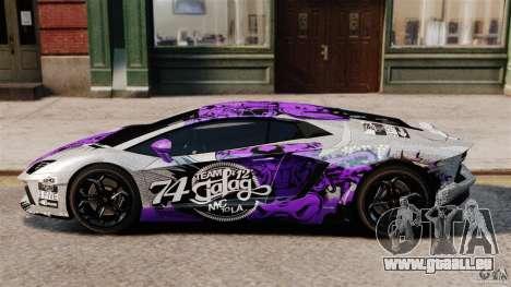 Lamborghini Aventador LP700-4 2012 Galag Gumball pour GTA 4 est une gauche