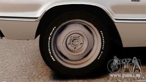 Dodge Coronet 1967 pour GTA 4 est une vue de dessous