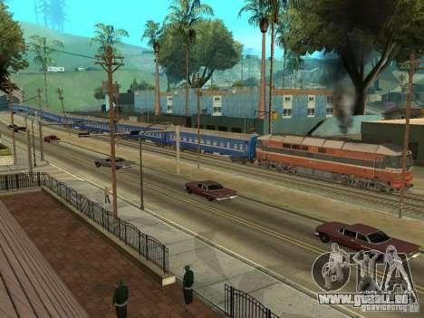 Platskartniy entraîneur ORR pour GTA San Andreas vue de côté