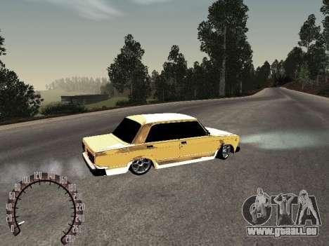 VAZ 2107 or pour GTA San Andreas sur la vue arrière gauche
