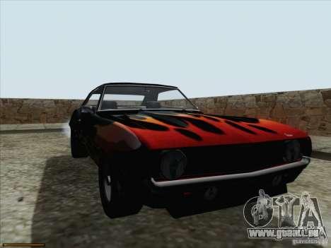 Chevrolet Camaro 1969 für GTA San Andreas Seitenansicht