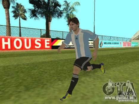 Lionel Messi pour GTA San Andreas sixième écran