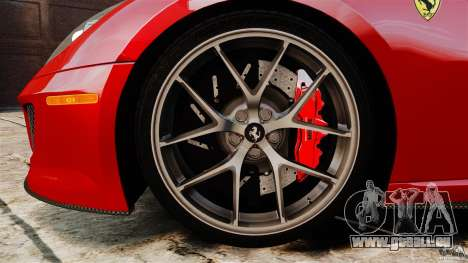 Ferrari 599 GTO 2011 pour GTA 4 vue de dessus