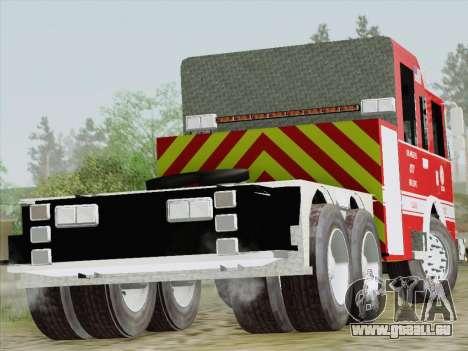 Pierce Arrow XT LAFD Tiller Ladder Truck 10 für GTA San Andreas rechten Ansicht