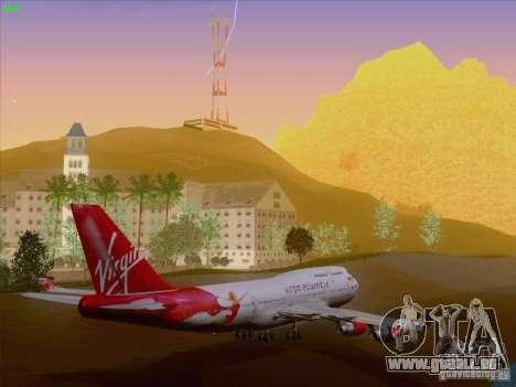 Boeing 747-4Q8 Lady Penelope pour GTA San Andreas vue de dessous