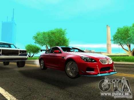 BMW M6 2013 pour GTA San Andreas laissé vue