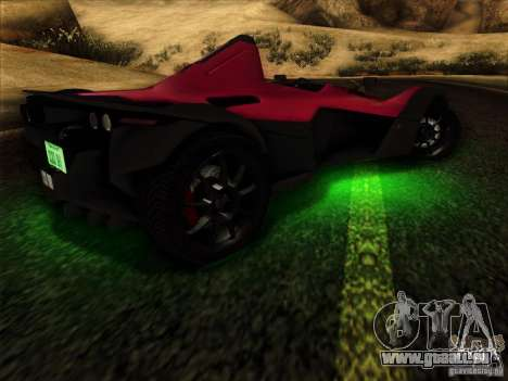 BAC MONO pour GTA San Andreas vue de côté
