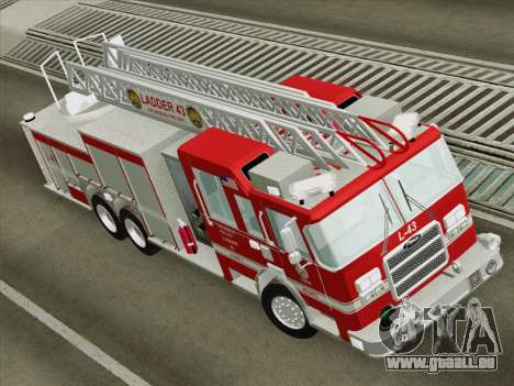 Pierce Arrow LAFD Ladder 43 für GTA San Andreas Rückansicht
