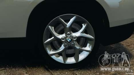 BMW X1 pour GTA 4 vue de dessus