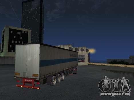 Remorque Schmitz pour GTA San Andreas sur la vue arrière gauche